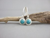 Turquoise Gemstone Drop Earrings | the silver forge