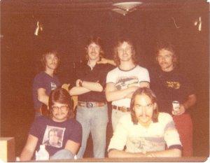 "From Left standing: Mick Orton, Ken Wiles, Jon Ludtke, Paul Staack. Sitting: Art ""Smart"" Stenstrom"" and Frank Wiewel"