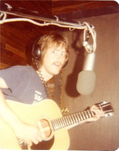 """Mick recording the guitar for """"Lover"""""""
