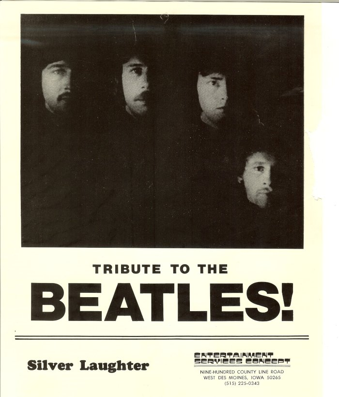 Silver Laughter's Tribute to the Beatles - We had 2 1 hour sets with films and slides on screens behind us.