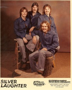 Silver Laughter 1975-76 - Mick, Ken, Jon and Paul seated