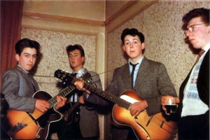 From left: George, John, Paul and ???