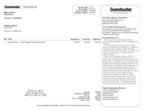 Hofner Invoice 2014