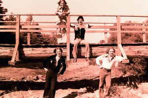 """Silver Laughter 1976 - Just after the release of """"Handle With Care"""" - Mick and Ken on the bridge, Jon and Paul below"""
