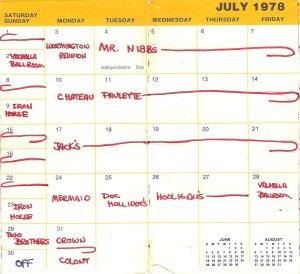 July 1978 Silver Laughter calendar