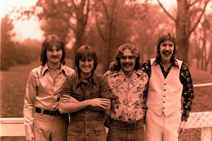 Silver Laughter 1975 - Jon, Mick, Paul and Ken - It was a cold day... I can almost hear our teeth chattering!