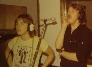 Mick and Ken in the studio