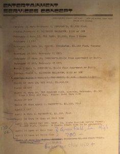 1977 Booking Schedule 01-04