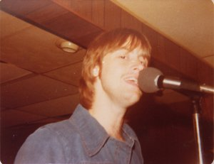 Mick at the microphone
