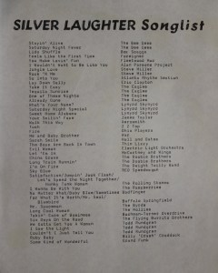 Silver Laughter Song List