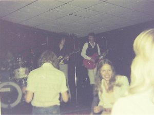 Kim, Jon and Ken onstage 1976
