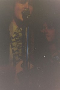 For some reason I really like this one with Jon singing and me looking over his shoulder