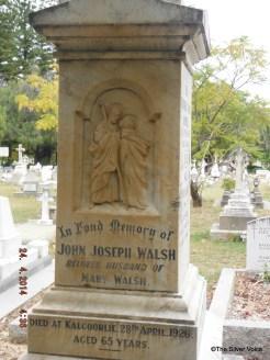 Grave of Detective-Insp John Joseph Walsh murdered April 1926