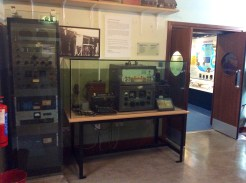 Lots of old wireless equipment on display