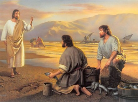 Jesus calls the fishermen