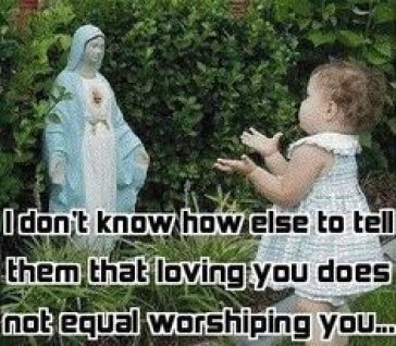 we honor not worship mary