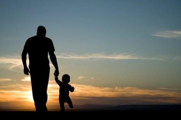 fathersonwalking