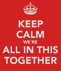 keep calm all in this together