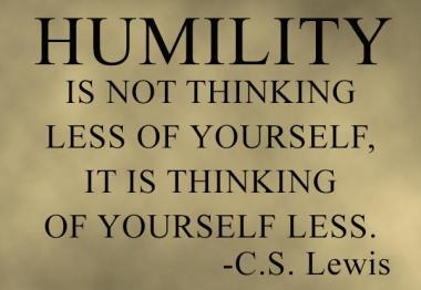 cs lewis humility