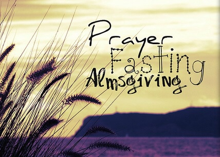 prayer fasting almsgiving