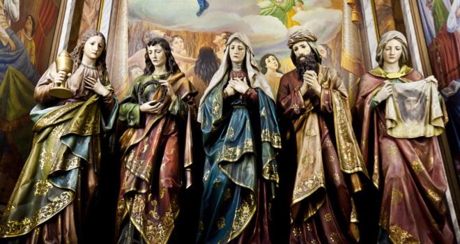Catholic saint statues