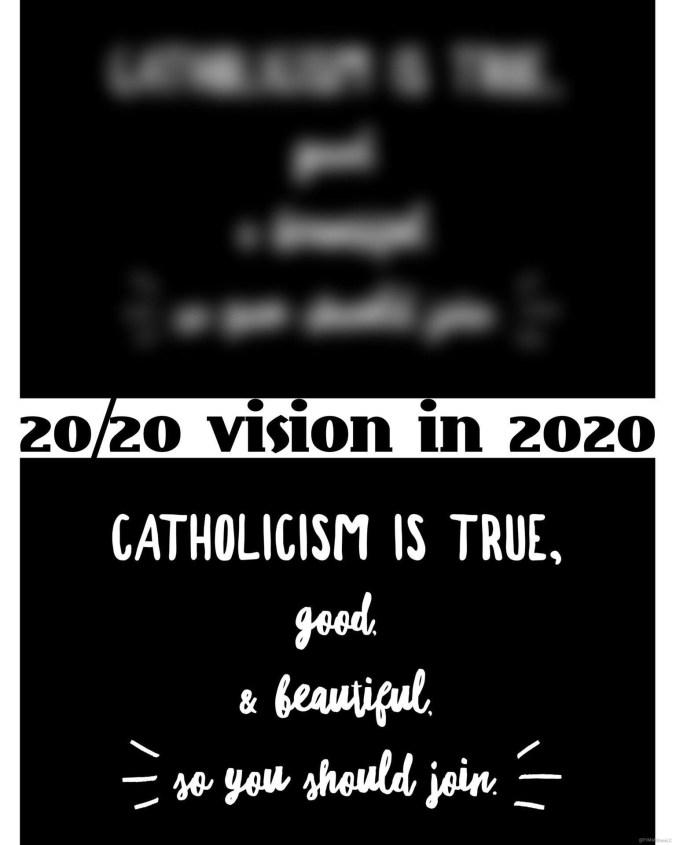 Catholicism 2020 vision