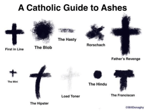 Ash Wednesday meme