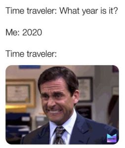 time traveler 2020 meme