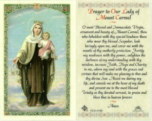 Prayer to Our Lady of Mount Carmel