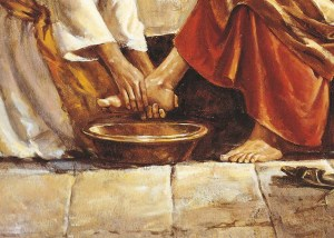 Jesus washing Peters feet