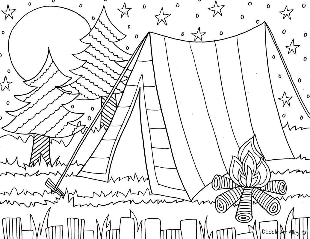The Best Ideas For Camping Coloring Pages To Print