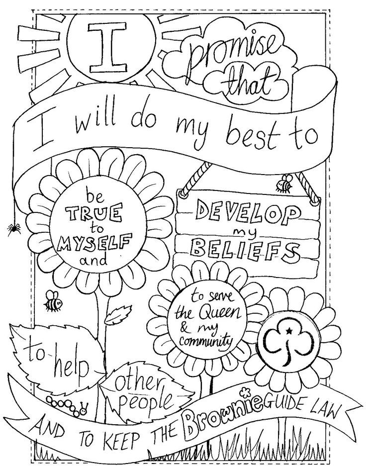 The top 25 Ideas About Girl Scout Brownies Coloring Pages