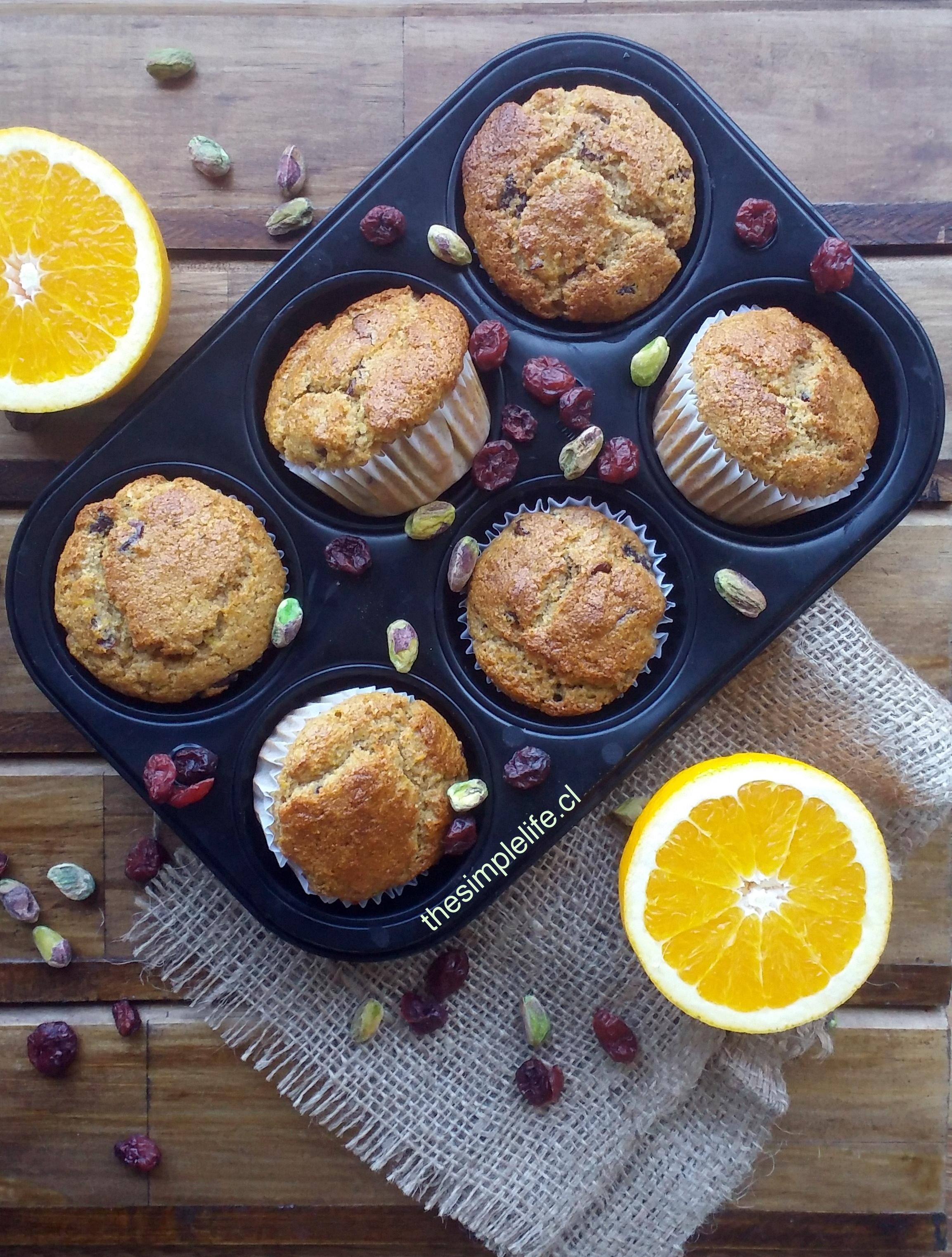 Muffins de Naranja y Cranberries 1