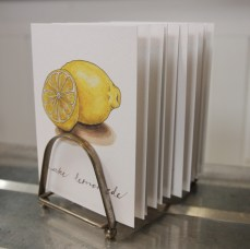 """""""Make Lemonade"""" Produce Print Hand Lettered Note Card for sale at thesimplepalette.etsy.com"""