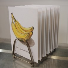 """""""Go Bananas"""" Produce Print Hand Lettered Note Card for sale at thesimplepalette.etsy.com"""