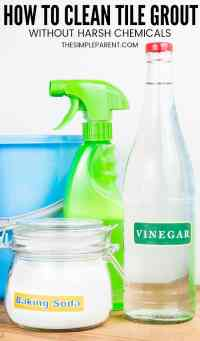 5 Easy Steps = How to Clean Grout with Vinegar and Baking ...