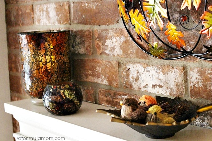 Pier 1 Imports Fall Mantel Decorations Makeover  The