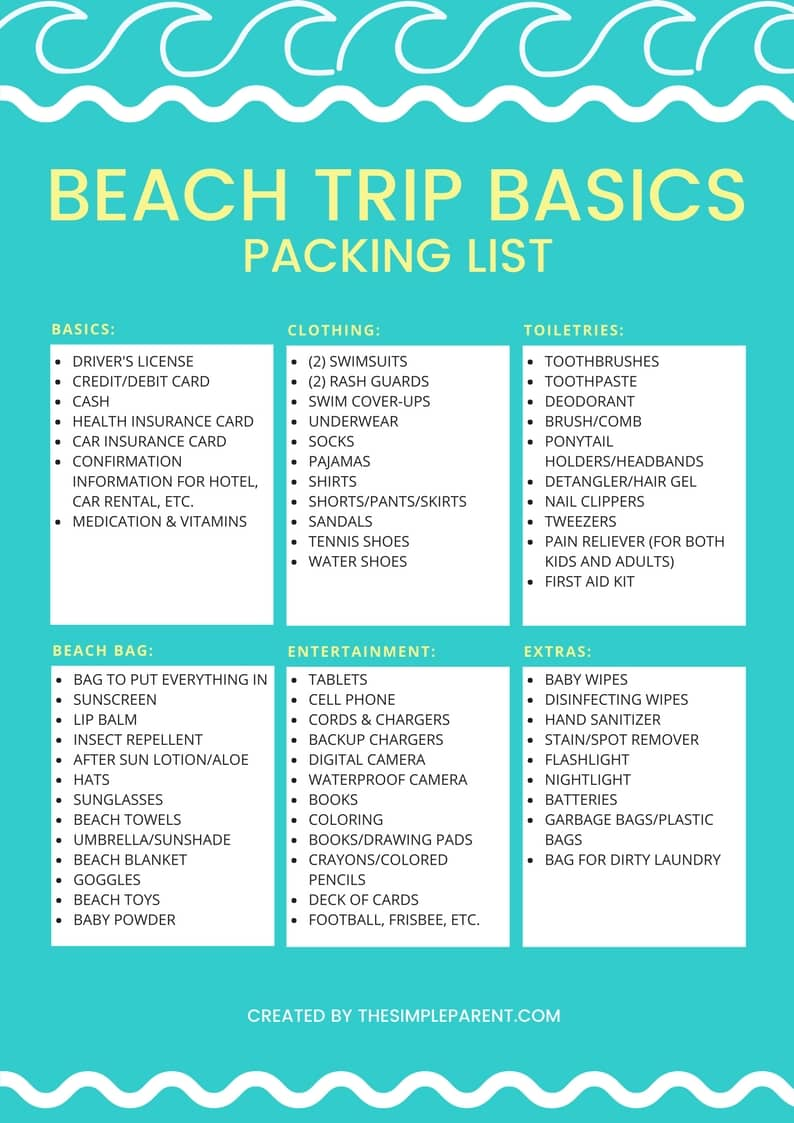 Easy Peasy Packing For The Beach With Free Printable