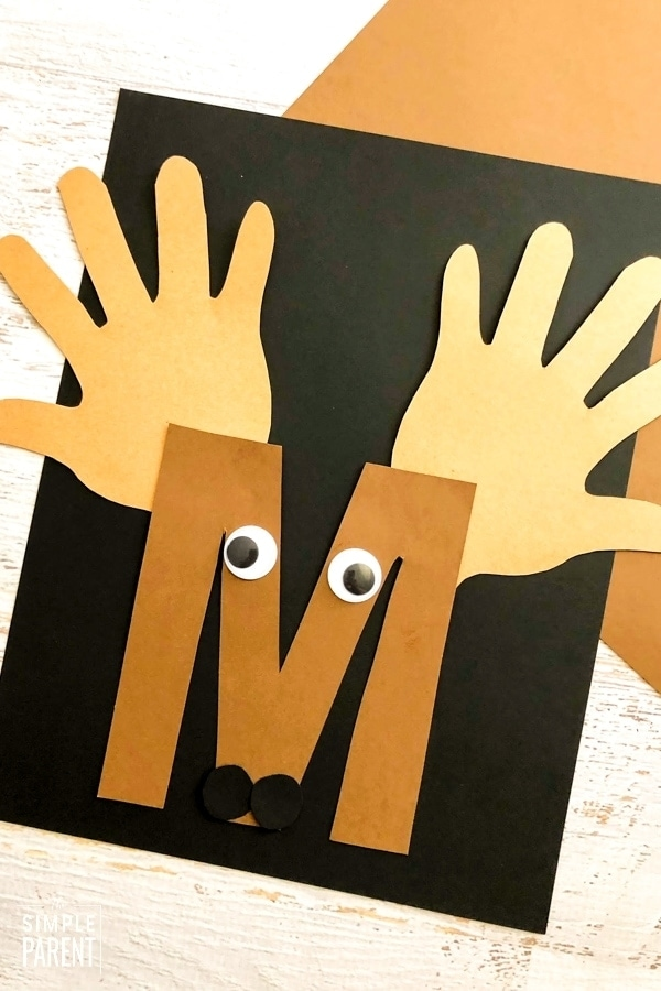 EASY TO MAKE! M Letter of the Week Craft for Preschool & Kindergarten