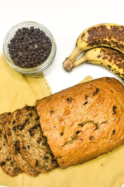 Simple Vegan Banana Bread with Chocolate Chips