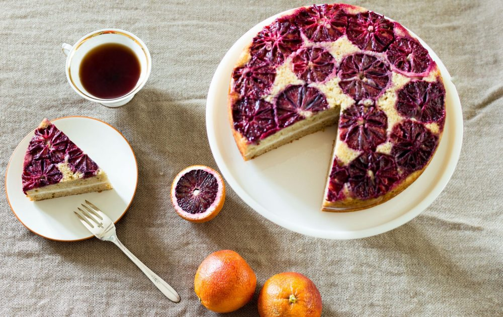 Blood Orange Spice Cake with Greek Yogurt Frosting