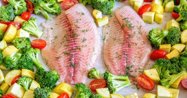 Easy Sheet Pan Tilapia & Veggies | Whole 30