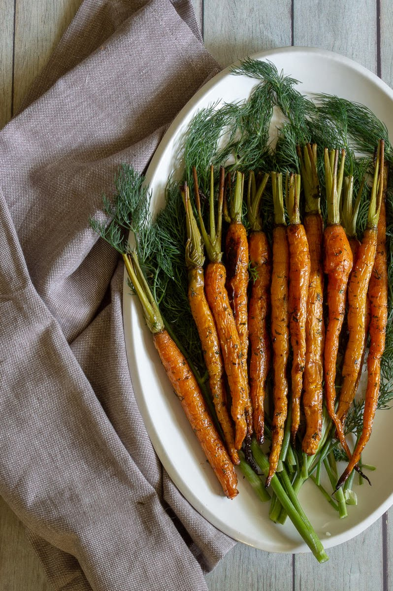 Roasted Carrots with Pesto