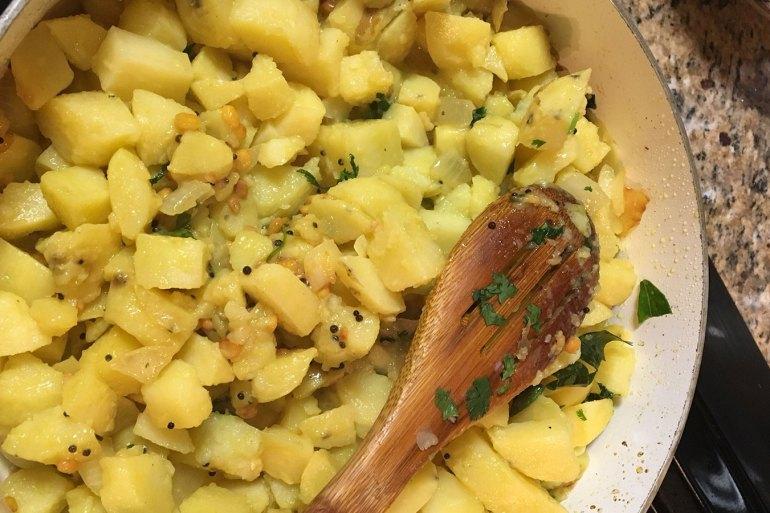 """Potato """"Masala"""" for Masala Dosai"""