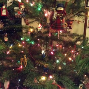 I usually take the tree down Dec. 26, but the girls are fond of this one, so it's still up.