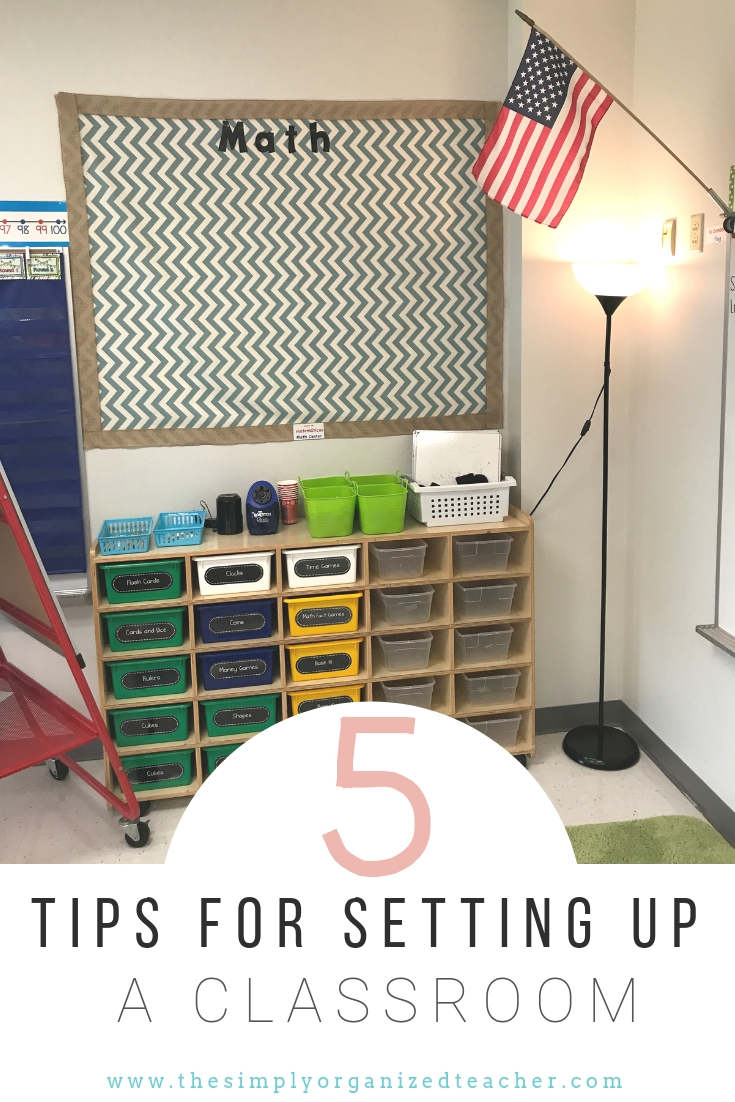 Looking to setup your new classroom? This blog will walk you through 5 steps of setting up your new classroom.