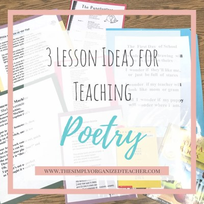 3 Lesson Ideas for Teaching Poetry in Elementary