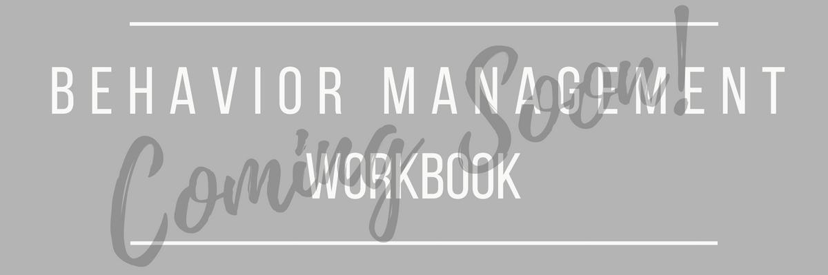 behavior management workbook