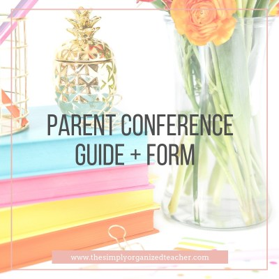Parent Conference Guide and Conference form to use in parent teacher conferences for elementary school teachers.