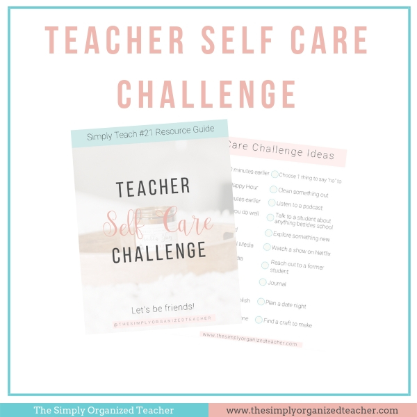 Classroom teachers should be practicing self care for themselves. This resource will help elementary teachers implement self care and priortize themselves!
